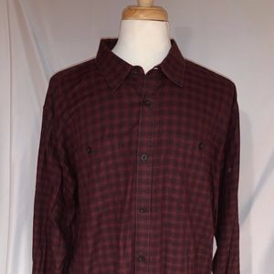 Patagonia Flannel Button Down in Red Plaid
